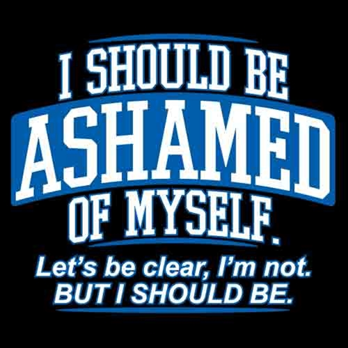 I should be ashamed of myself - Musings by Megha